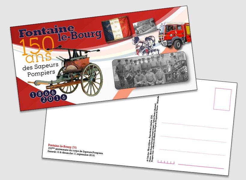 Carte postale Sapeurs Pompiers